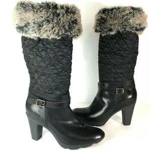 Aquatalia 8 winter boots Waterproof Faux Fur heels